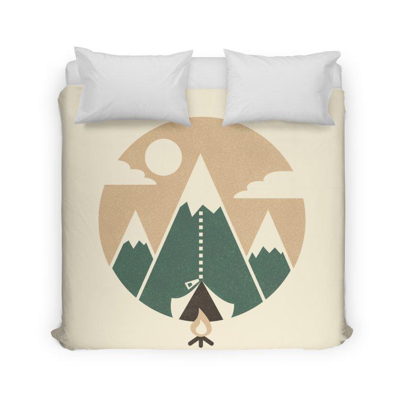 Mountain tent Home Duvet by Rodrigobhz