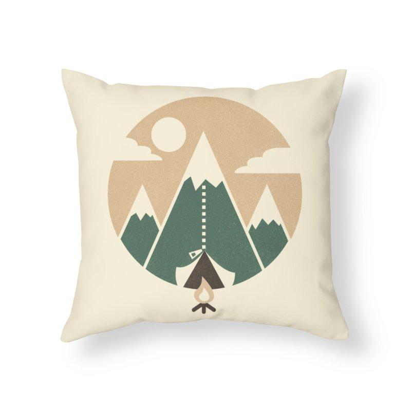 Mountain tent Home Throw Pillow by Rodrigobhz