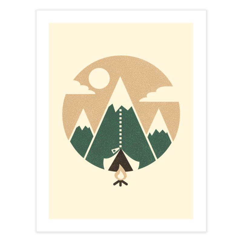 Mountain tent Home Fine Art Print by Rodrigobhz