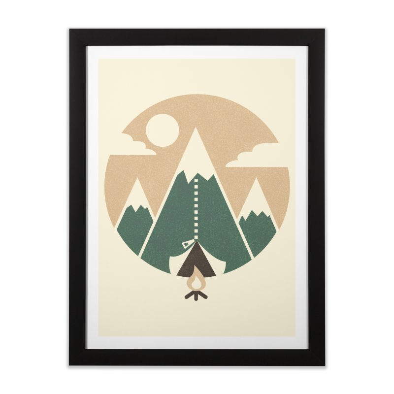 Mountain tent Home Framed Fine Art Print by Rodrigobhz