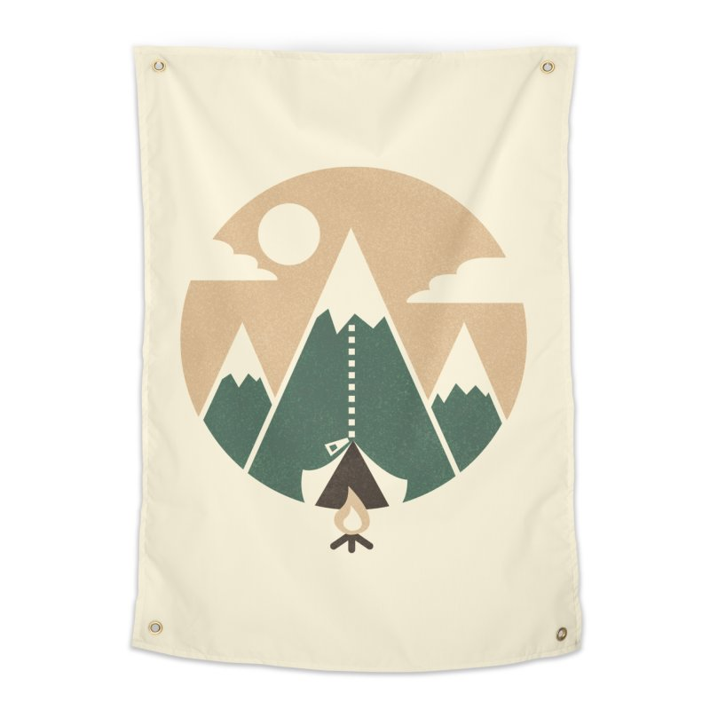 Mountain tent Home Tapestry by Rodrigobhz