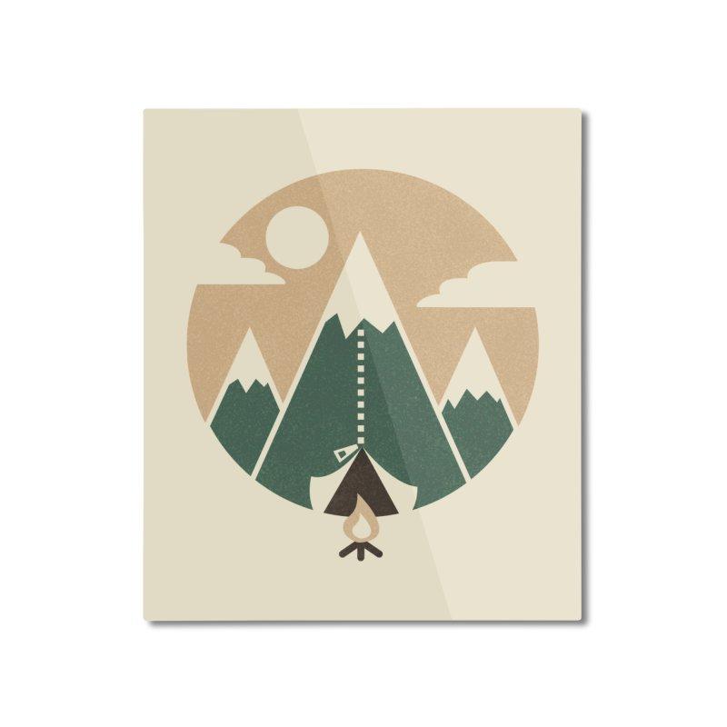 Mountain tent Home Mounted Aluminum Print by Rodrigobhz