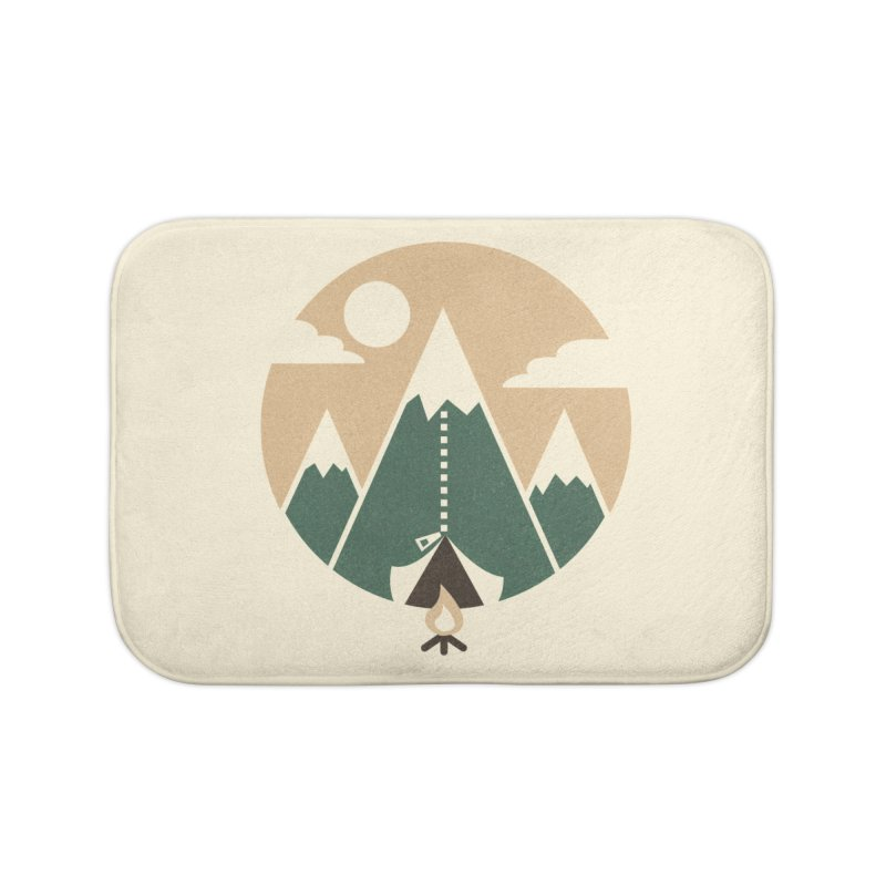 Mountain tent Home Bath Mat by Rodrigobhz