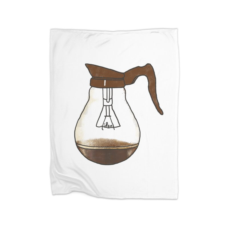 Coffee is always a good idea Home Fleece Blanket by Rodrigobhz