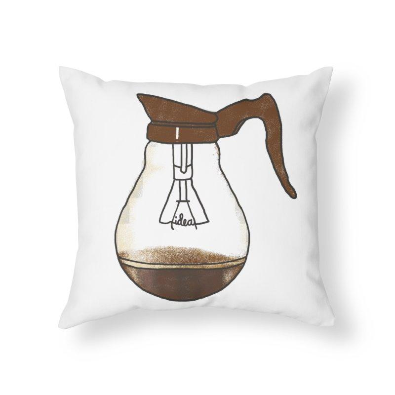 Coffee is always a good idea Home Throw Pillow by Rodrigobhz