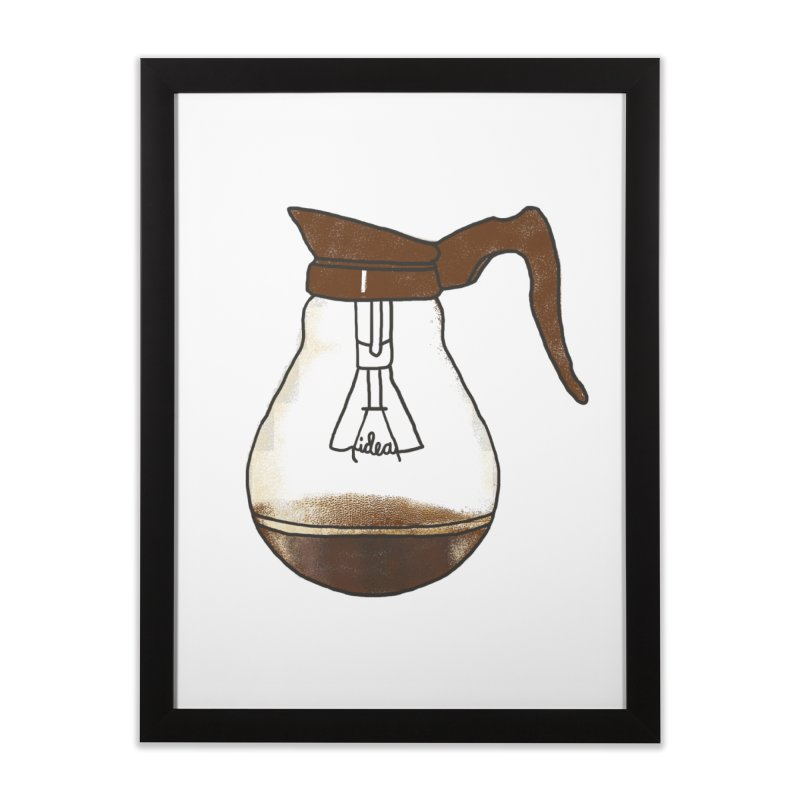 Coffee is always a good idea Home Framed Fine Art Print by Rodrigobhz