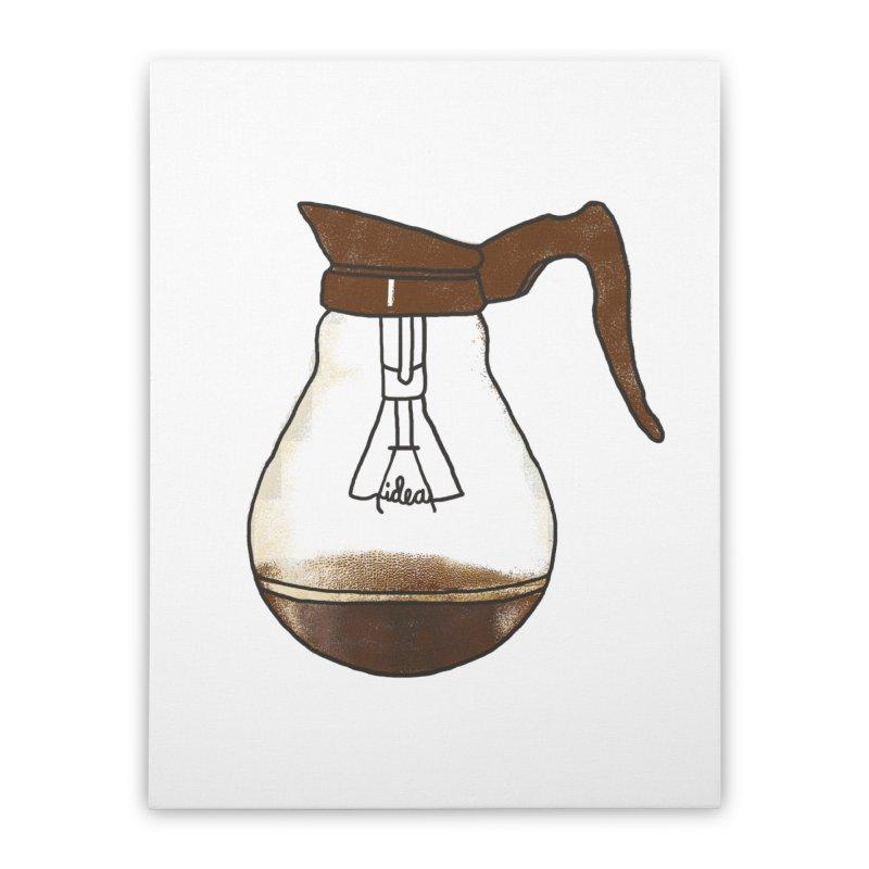 Coffee is always a good idea Home Stretched Canvas by Rodrigobhz