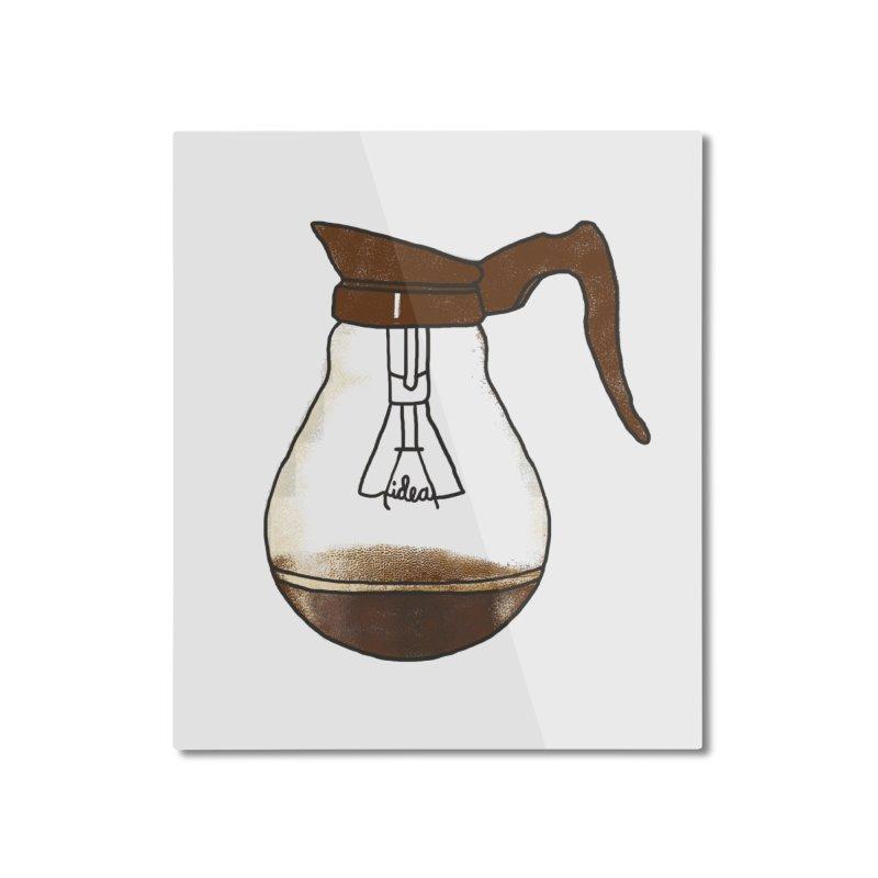 Coffee is always a good idea Home Mounted Aluminum Print by Rodrigobhz