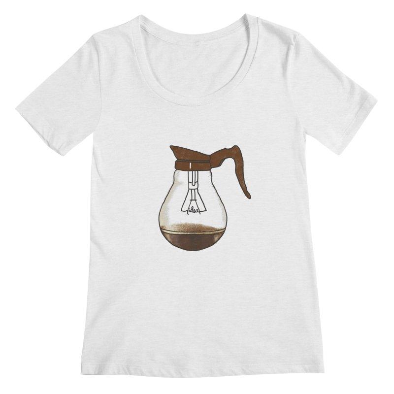 Coffee is always a good idea Women's Regular Scoop Neck by Rodrigobhz