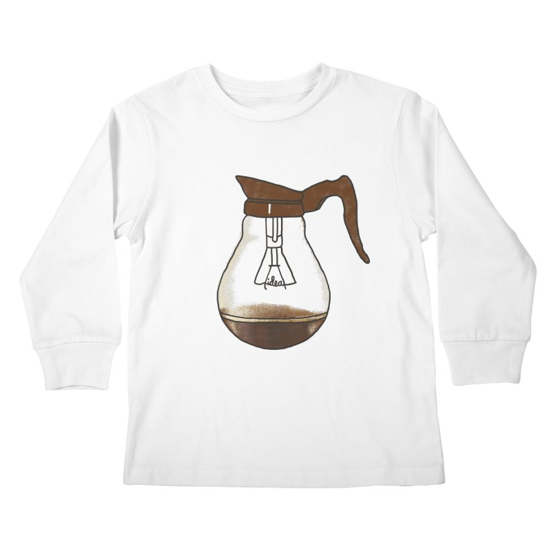 Coffee is always a good idea Kids Longsleeve T-Shirt by Rodrigobhz