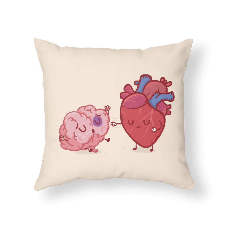 Reason vs Emotion Home Throw Pillow by Rodrigobhz