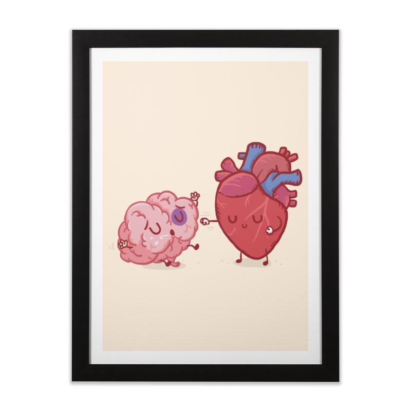 Reason vs Emotion Home Framed Fine Art Print by Rodrigobhz