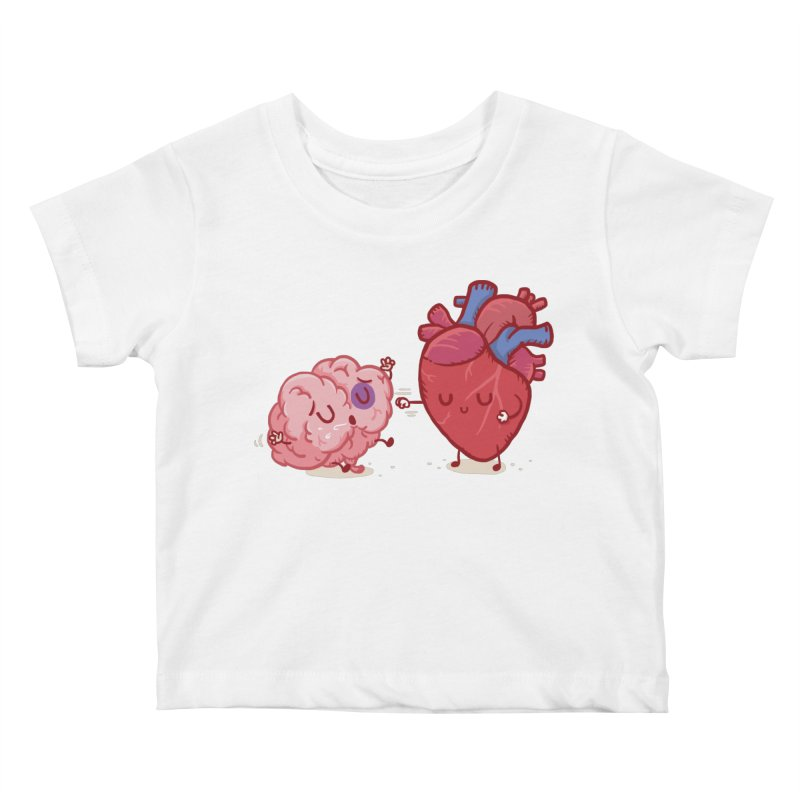 Reason vs Emotion Kids Baby T-Shirt by Rodrigobhz