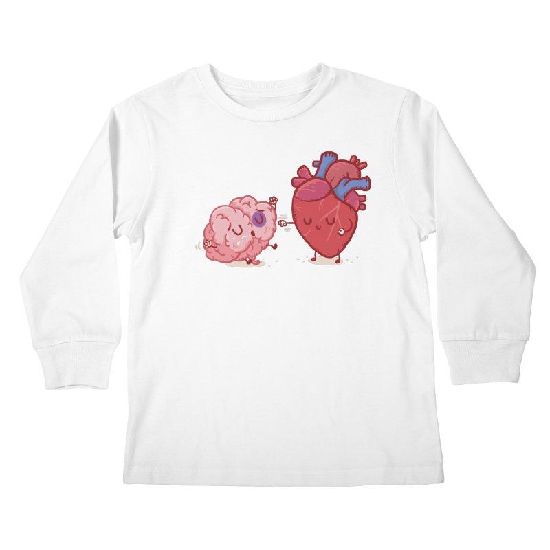 Reason vs Emotion Kids Longsleeve T-Shirt by Rodrigobhz