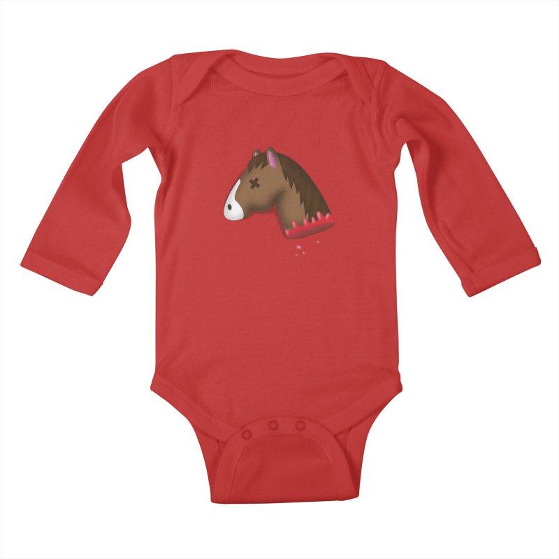 AN OFFER HE CAN'T REFUSE Kids Baby Longsleeve Bodysuit by Rodrigobhz
