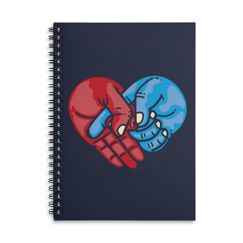 Lovefuck Accessories Lined Spiral Notebook by Rodrigobhz