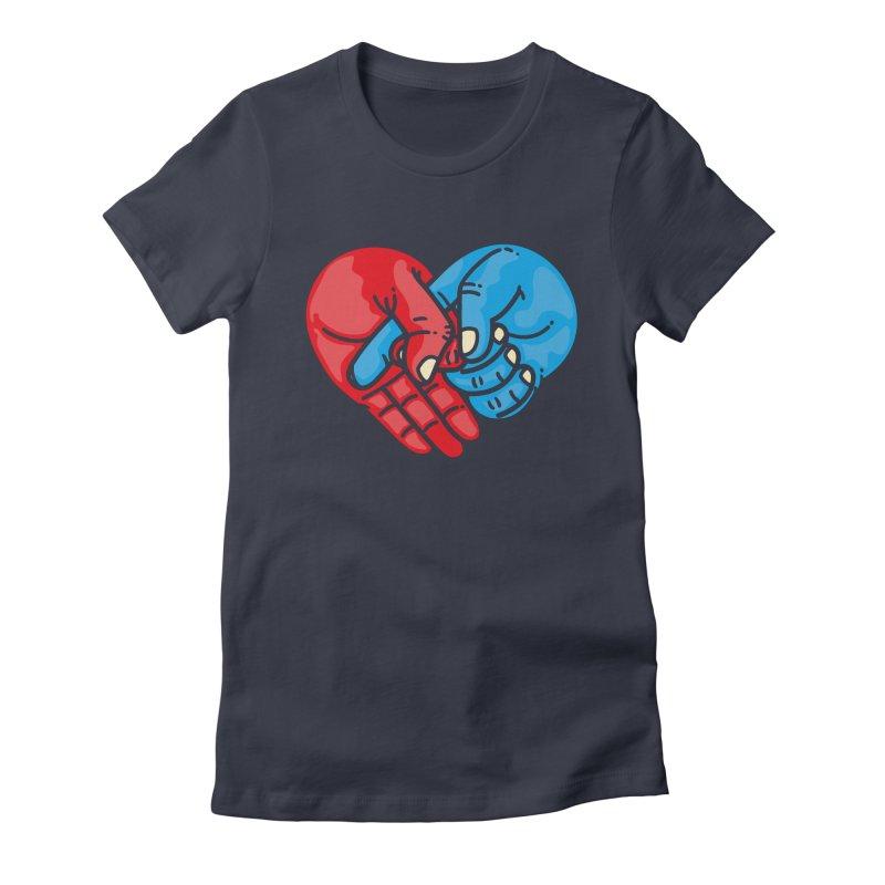 Lovefuck Women's Fitted T-Shirt by Rodrigobhz