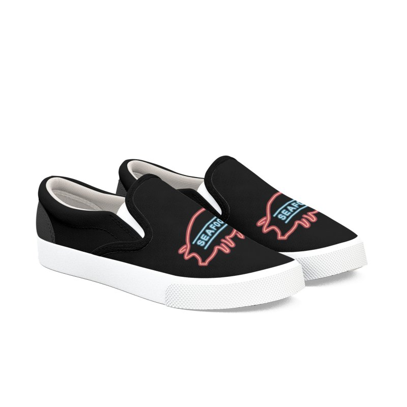 Coffee Shop Neon Sign Women's Slip-On Shoes by Rodrigobhz