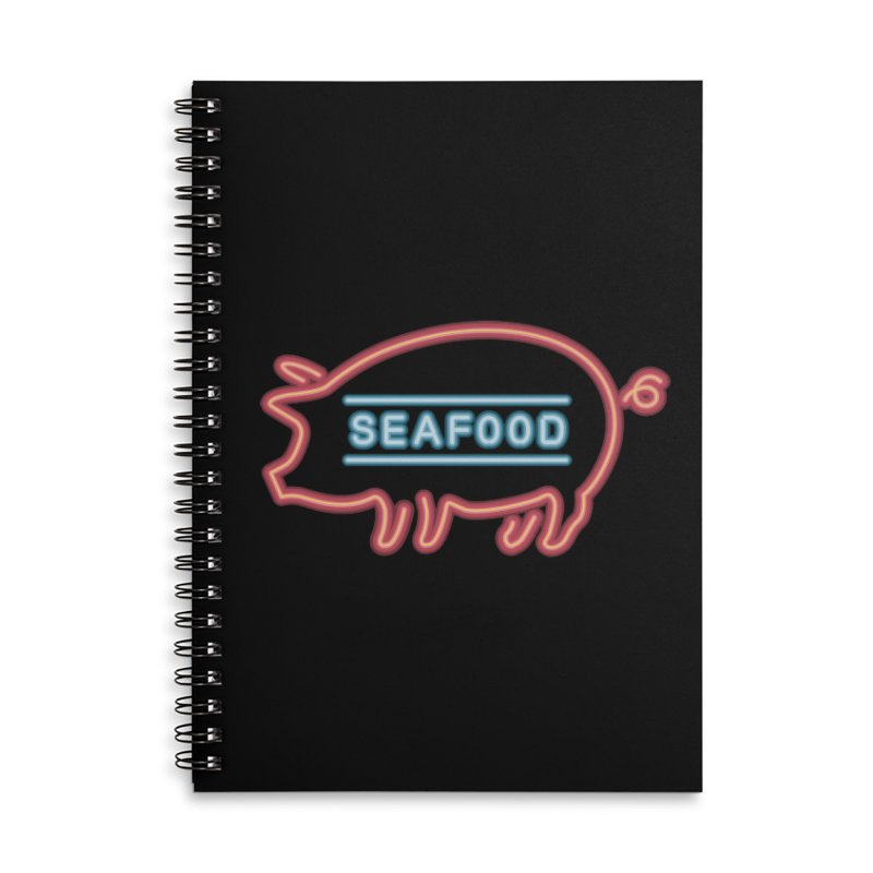 Coffee Shop Neon Sign Accessories Lined Spiral Notebook by Rodrigobhz