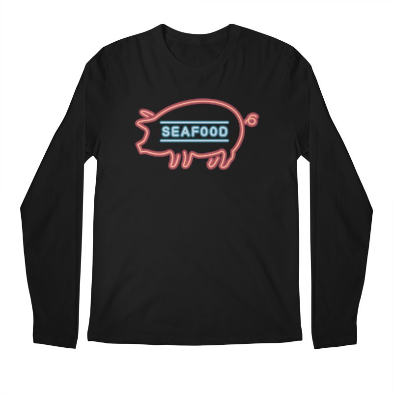 Coffee Shop Neon Sign Men's Regular Longsleeve T-Shirt by Rodrigobhz