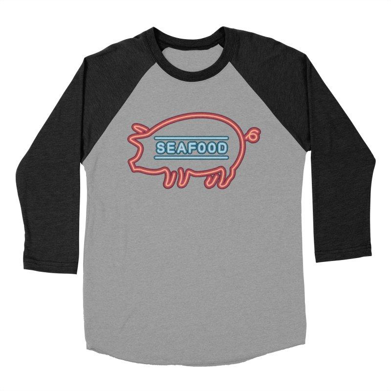 Coffee Shop Neon Sign Women's Baseball Triblend Longsleeve T-Shirt by Rodrigobhz