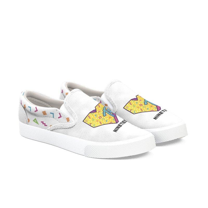 I Love the 90's Women's Slip-On Shoes by Rodrigobhz