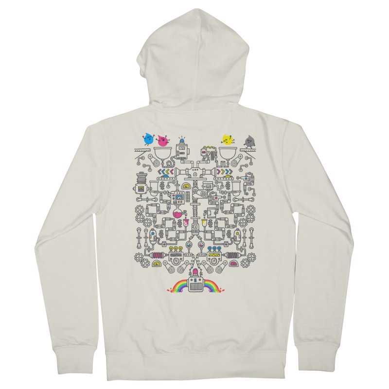 The Amazing Color Machine Men's French Terry Zip-Up Hoody by Rodrigobhz