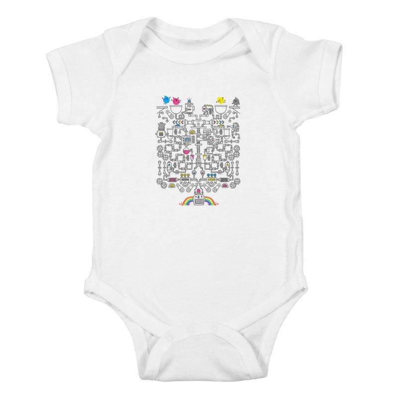 The Amazing Color Machine Kids Baby Bodysuit by Rodrigobhz