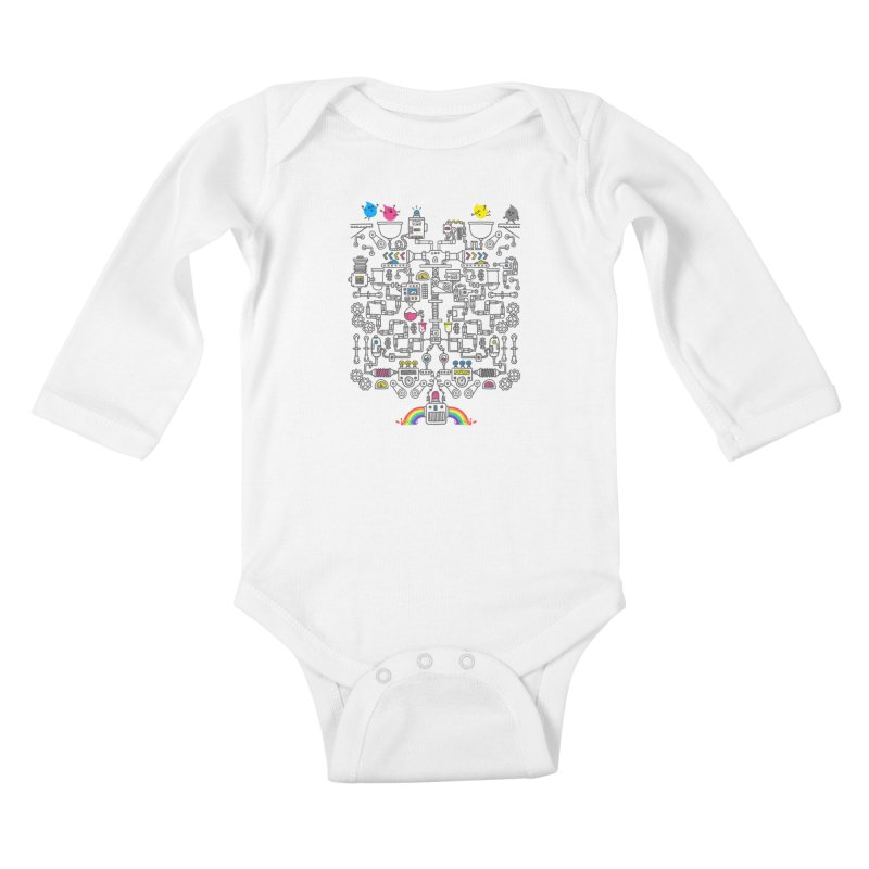 The Amazing Color Machine Kids Baby Longsleeve Bodysuit by Rodrigobhz