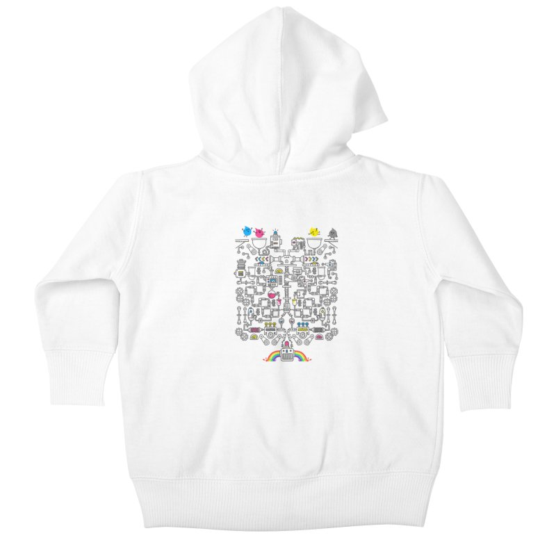 The Amazing Color Machine Kids Baby Zip-Up Hoody by Rodrigobhz