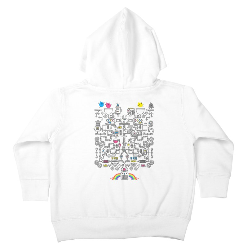 The Amazing Color Machine Kids Toddler Zip-Up Hoody by Rodrigobhz