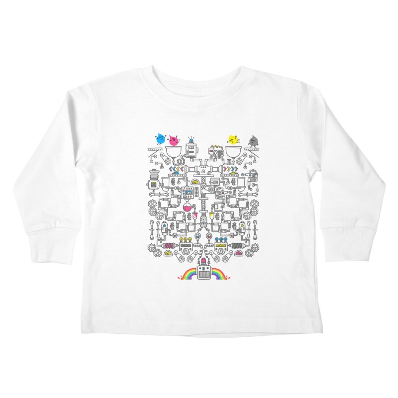 The Amazing Color Machine Kids Toddler Longsleeve T-Shirt by Rodrigobhz