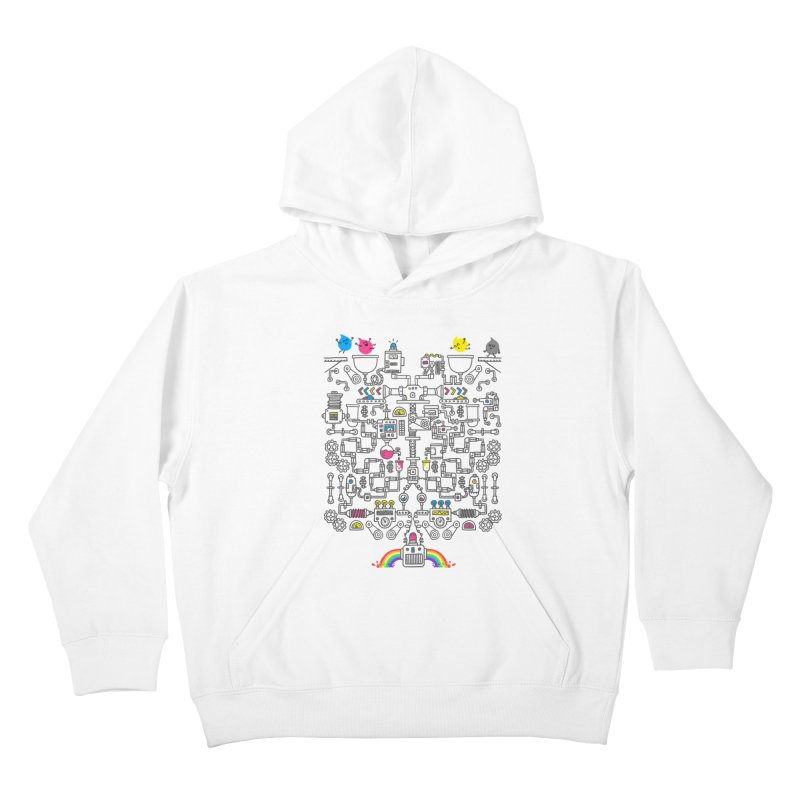 The Amazing Color Machine Kids Pullover Hoody by Rodrigobhz
