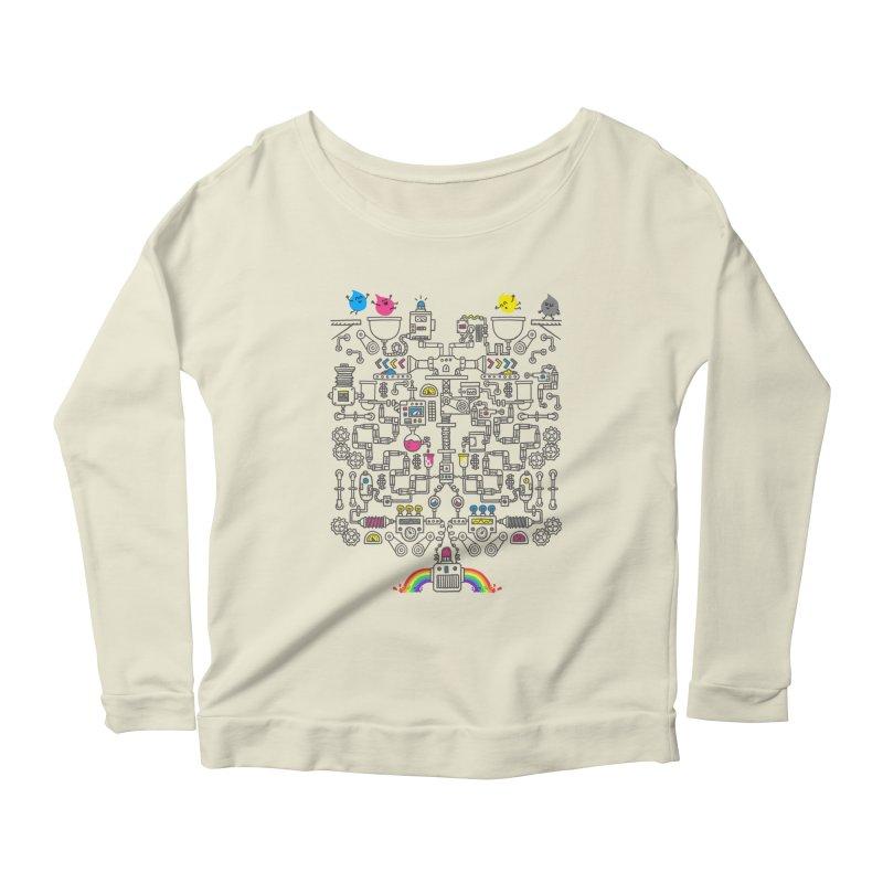 The Amazing Color Machine Women's Scoop Neck Longsleeve T-Shirt by Rodrigobhz