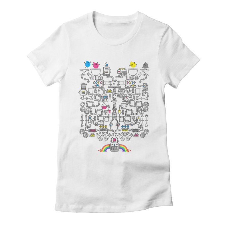 The Amazing Color Machine Women's Fitted T-Shirt by Rodrigobhz
