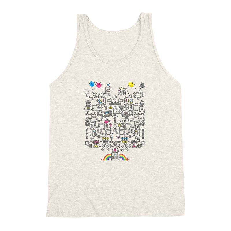 The Amazing Color Machine Men's Triblend Tank by Rodrigobhz