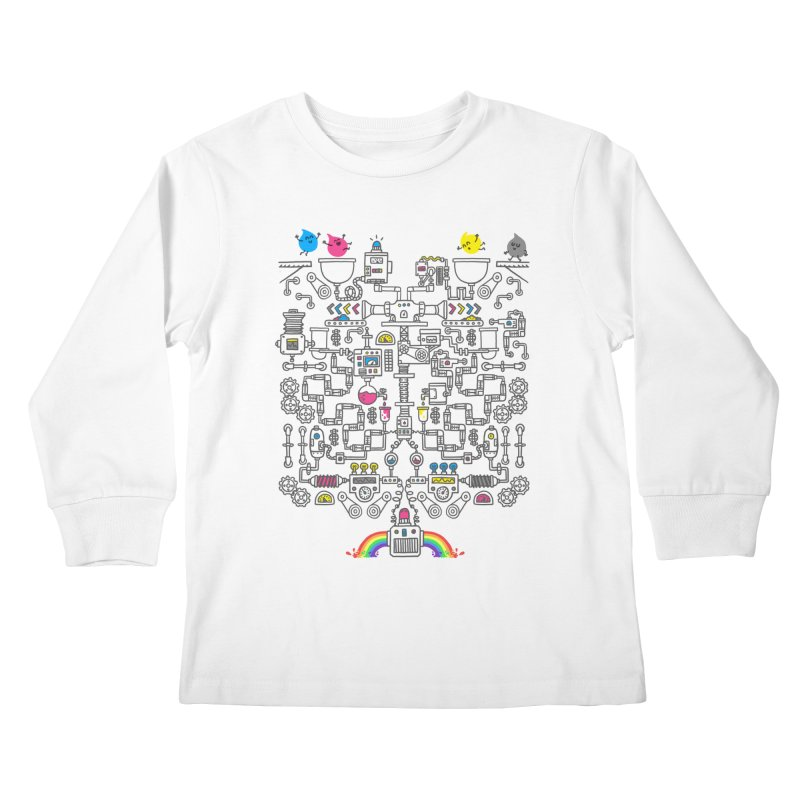 The Amazing Color Machine Kids Longsleeve T-Shirt by Rodrigobhz