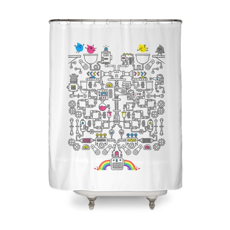 The Amazing Color Machine Home Shower Curtain by Rodrigobhz