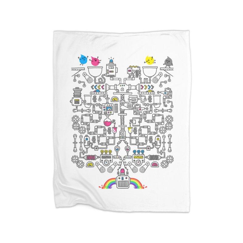The Amazing Color Machine Home Blanket by Rodrigobhz