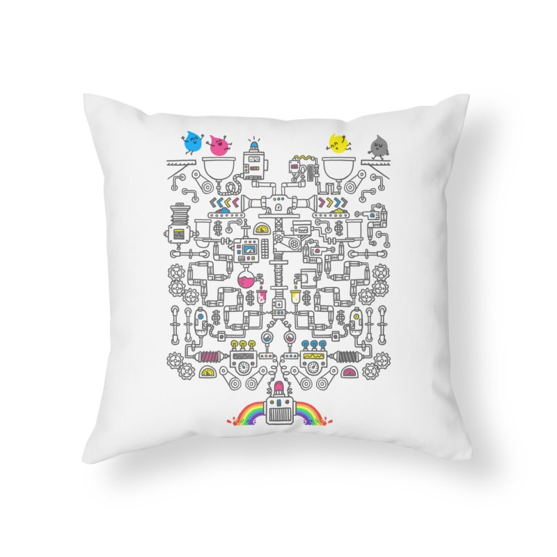 The Amazing Color Machine Home Throw Pillow by Rodrigobhz