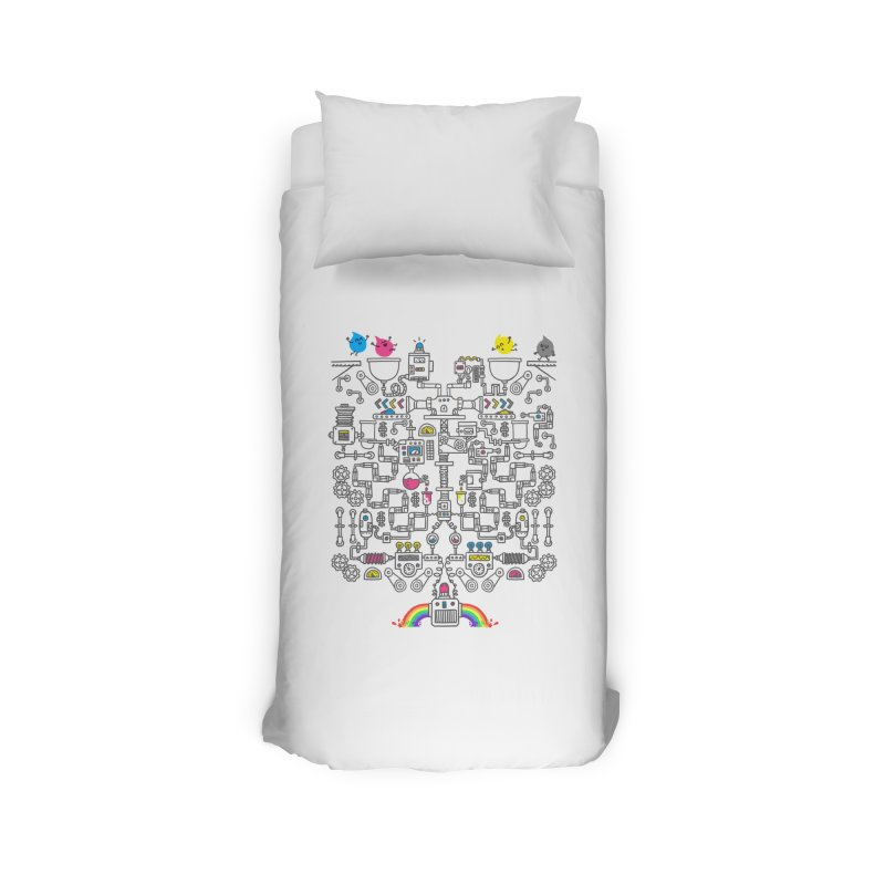 The Amazing Color Machine Home Duvet by Rodrigobhz