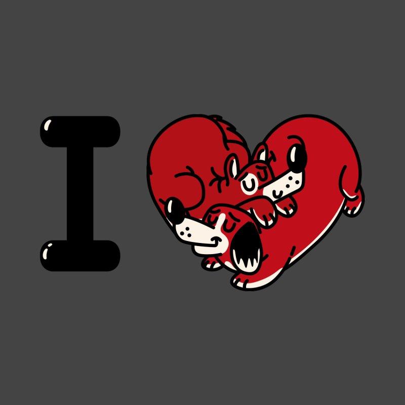 I heart dogs Men's T-Shirt by Rodrigobhz