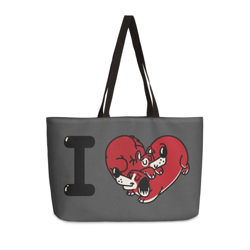 I heart dogs Accessories Weekender Bag Bag by Rodrigobhz