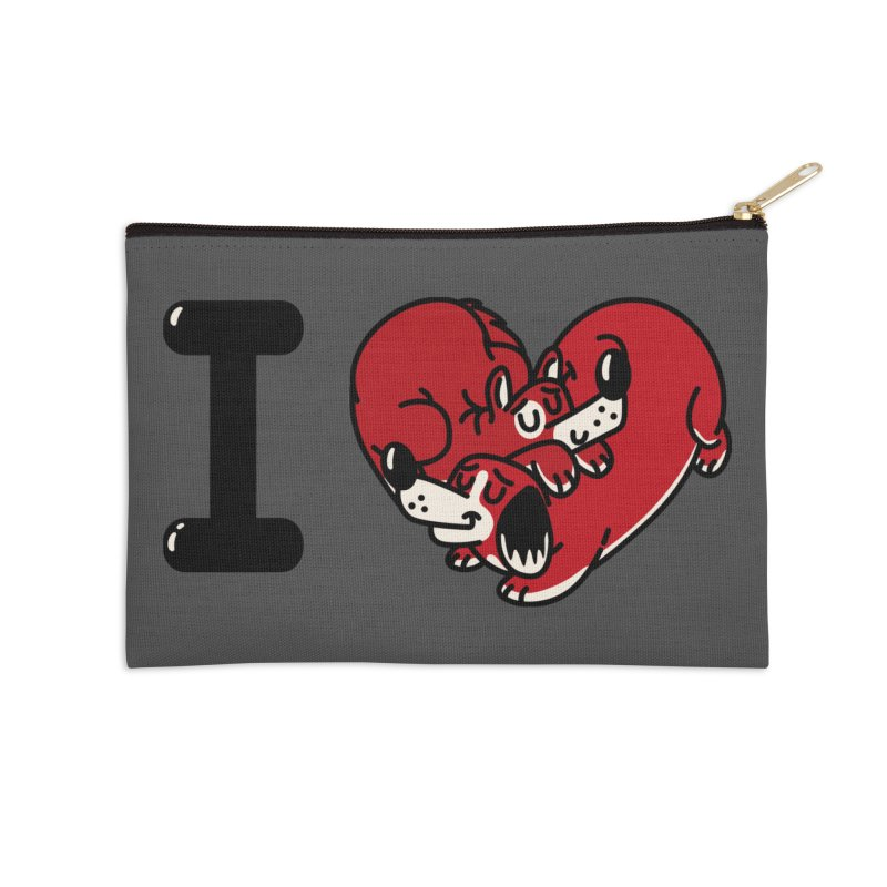 I heart dogs Accessories Zip Pouch by Rodrigobhz
