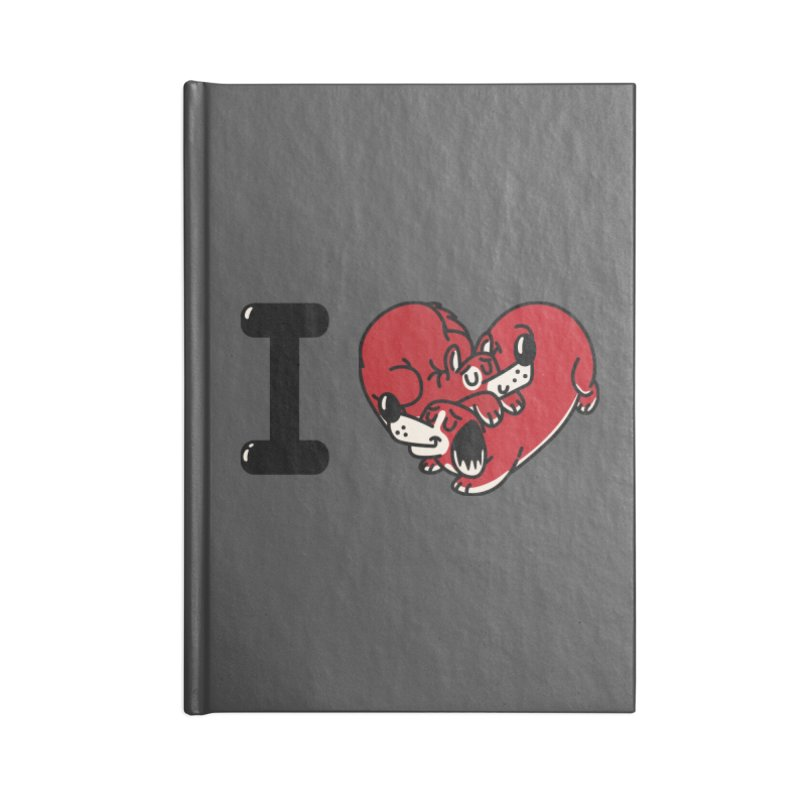 I heart dogs Accessories Lined Journal Notebook by Rodrigobhz