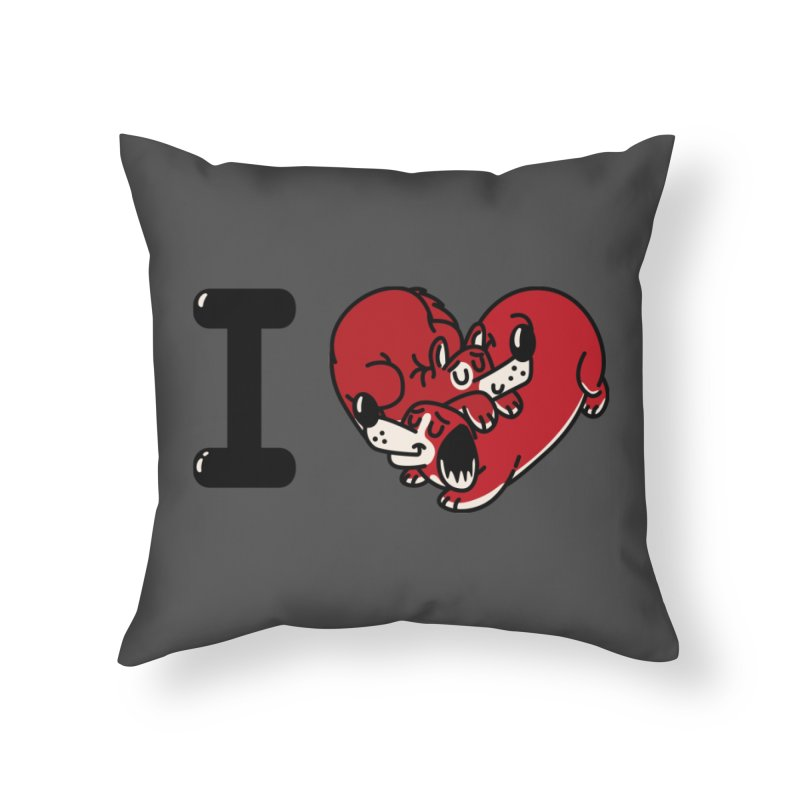 I heart dogs Home Throw Pillow by Rodrigobhz