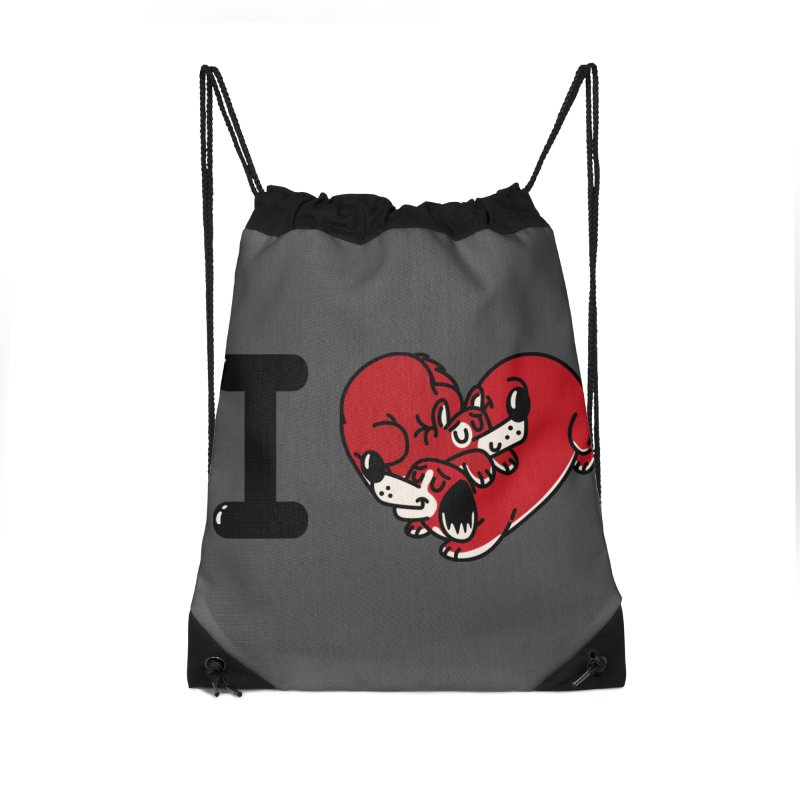I heart dogs Accessories Drawstring Bag Bag by Rodrigobhz