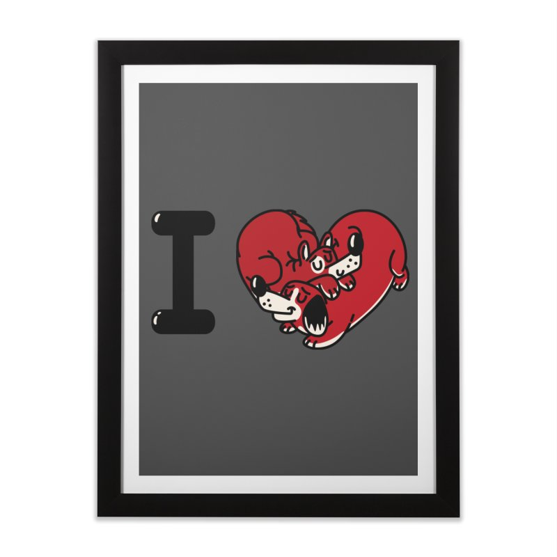 I heart dogs Home Framed Fine Art Print by Rodrigobhz