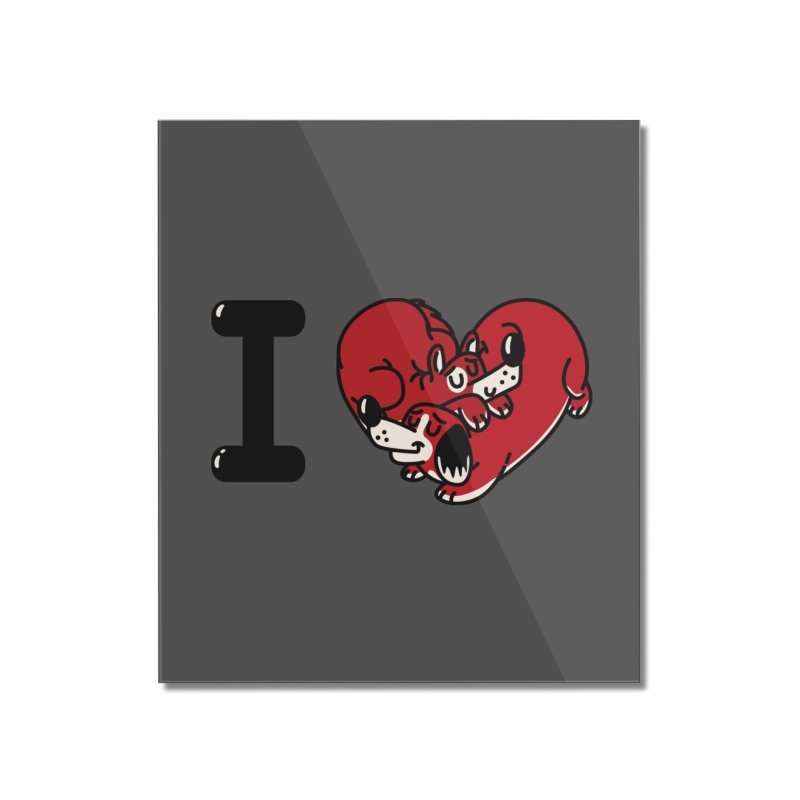 I heart dogs Home Mounted Acrylic Print by Rodrigobhz
