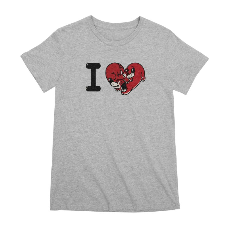 I heart dogs Women's Premium T-Shirt by Rodrigobhz